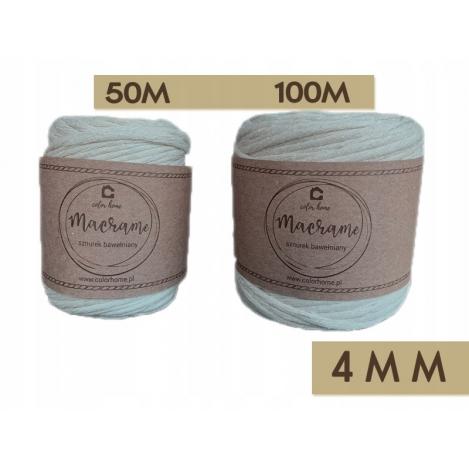Sznurek bawełniany do makramy  100m / 4mm PRODUCENT