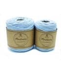 Sznurek bawełniany do makramy  50m / 4mm BABY BLUE